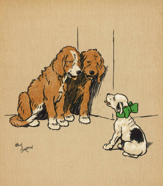 Pup Drawing - Twin Puppies, Snip And Snap by Mary Evans Picture Library