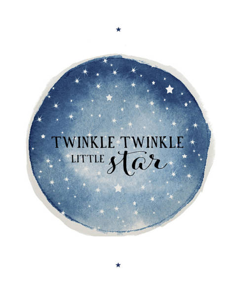Zodiac Wall Art - Painting - Twinkle Little Star Circle by Amy Cummings