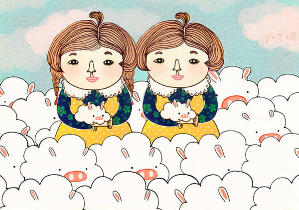 Twins Painting - Twins by Yoyo Zhao