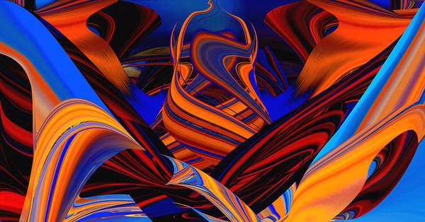 Digital Art - Twirling In Color by rd Erickson