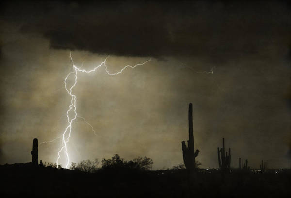 Photograph - Twisted Desert Lightning Storm by James BO Insogna