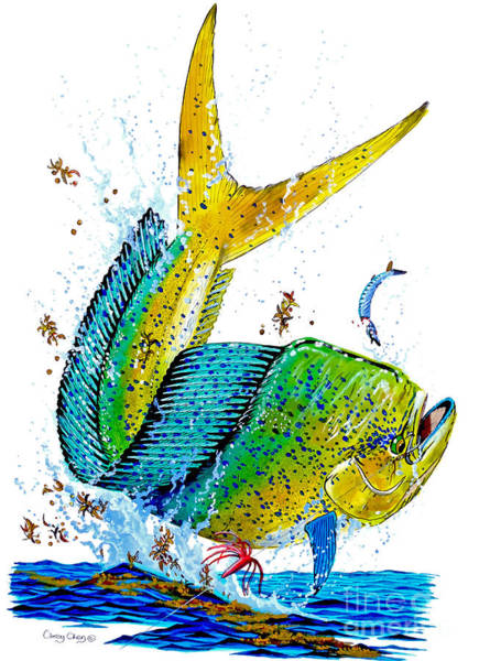 Wall Art - Painting - Twisted Mahi by Carey Chen