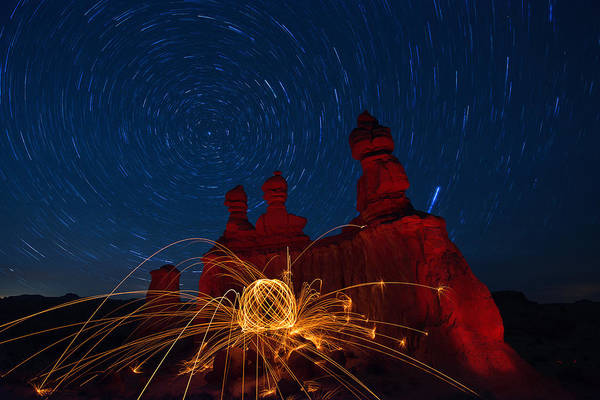 Steel Wool Photograph - Twisted Sisters by Dustin  LeFevre