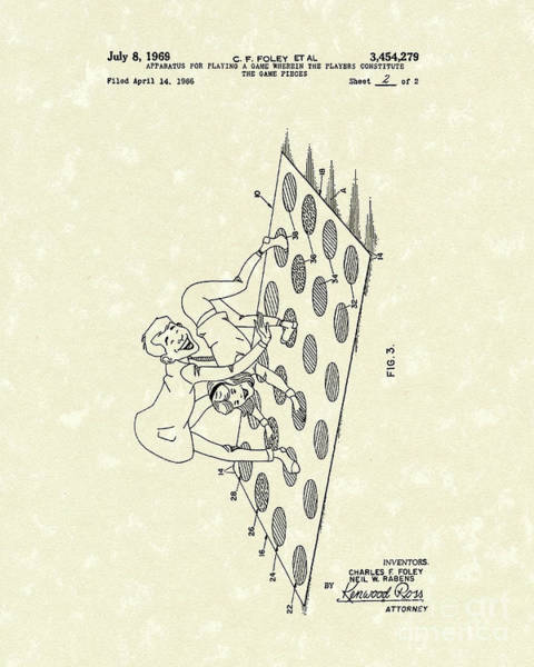 Drawing - Game 1969 Patent Art by Prior Art Design