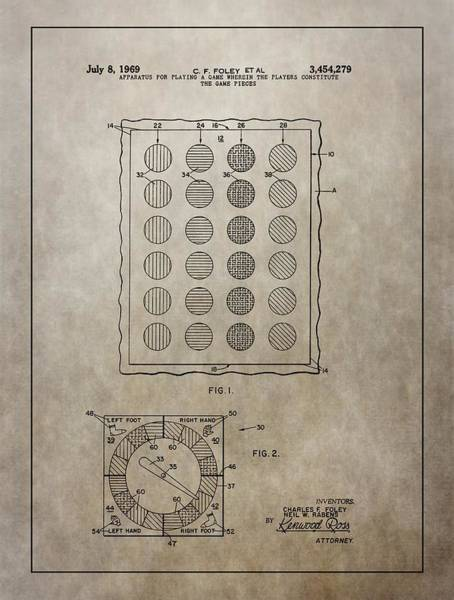 Toy Mixed Media - Twister Gameboard Patent by Dan Sproul