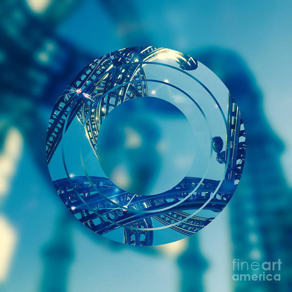 Digital Art - Twisting Blue Steel by Beverly Claire Kaiya