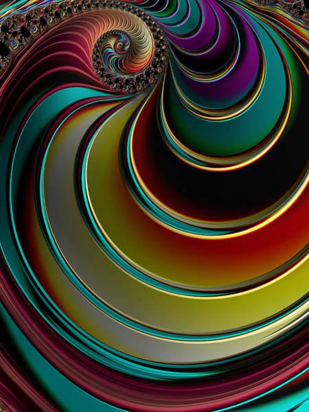Digital Art - Twisting Rainbow by Amanda Moore