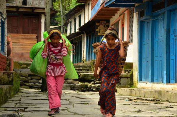 Nepal Wall Art - Photograph - Two Are Better by Aaron Bedell