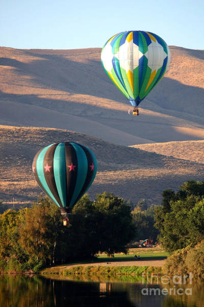 Photograph - Two Balloons In Morning Sunshine by Carol Groenen