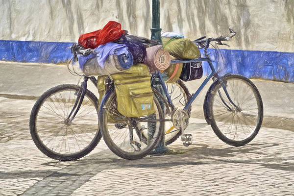 Photograph - Two Bicycles  by David Letts