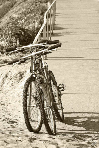 Photograph - Two Bikes On The Beach by Ben and Raisa Gertsberg