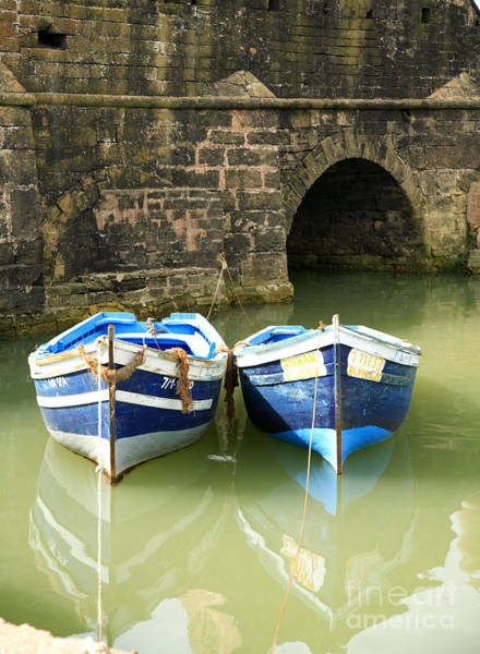 Photograph - Two Blue Fishing Boats by Deborah Benbrook