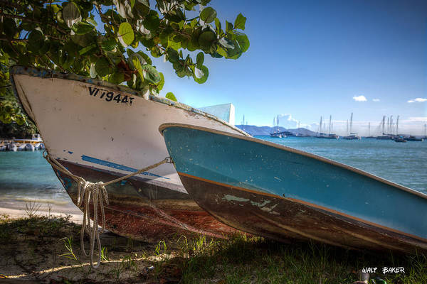 Jost Photograph - Two Boats At Foxy's Happy Hour by Walt  Baker