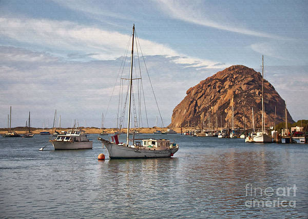 Morro Bay Digital Art - Two Boats by Sharon Foster