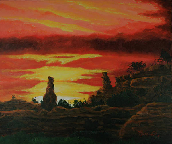 Butte Painting - Two Brothers by Timithy L Gordon