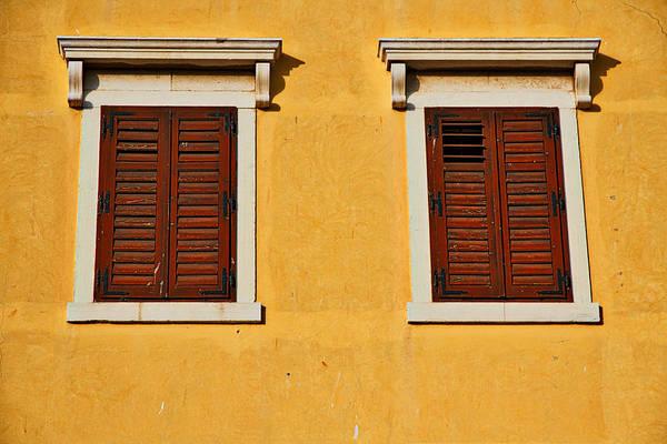 Balkan Peninsula Photograph - Two Brown Windows by Stuart Litoff