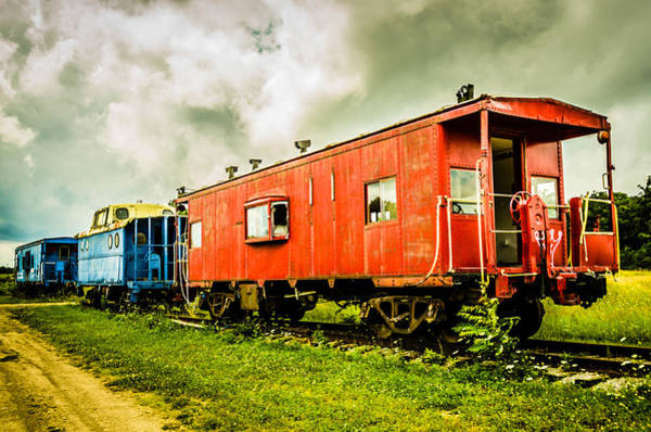 Photograph - Two Cabooses by Guy Whiteley