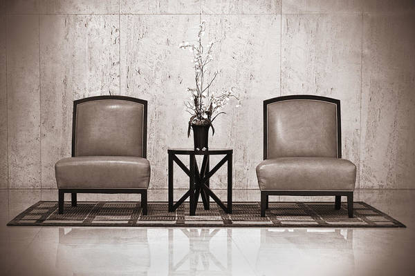 Interior Decorating Photograph - Two Chairs And A Table With A Plant  by Rudy Umans