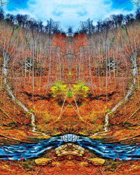 Photograph - Two Converging Water Falls by Dennis Dame