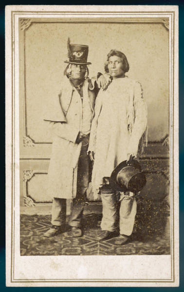 Wall Art - Photograph - Two Digger Indians Of The  Yosemite by Mary Evans Picture Library