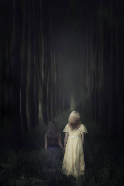 Daughter Photograph - Two Girls In A Forest by Joana Kruse