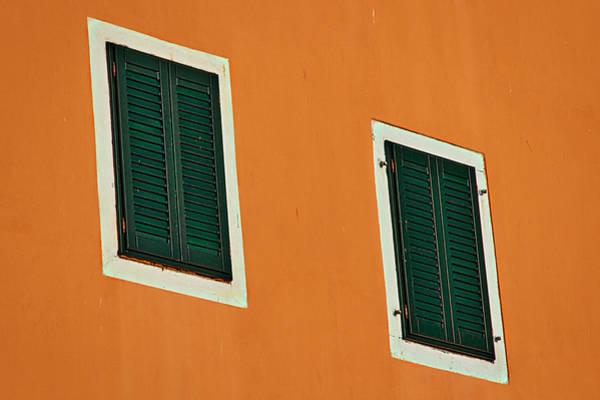 Balkan Peninsula Photograph - Two Green Windows by Stuart Litoff