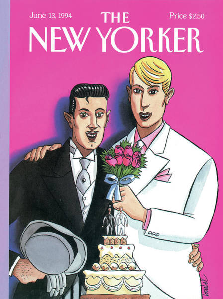 Pink Painting - New Yorker June 13th, 1994 by Jacques de Loustal