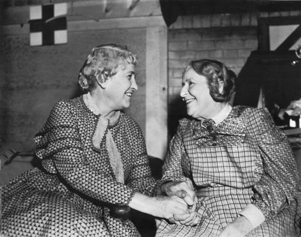 65 Photograph - Two Happy Senior Women by Underwood Archives