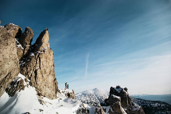 High Tatras Wall Art - Photograph - Two Hikers In The Mountains Of Slovakia by Adam Kokot