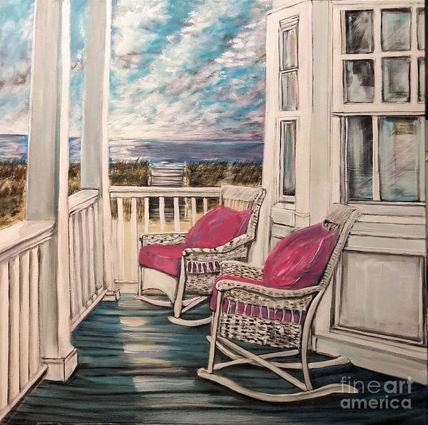 Southern Charm Painting - Two If By Sea by Katie Adkins