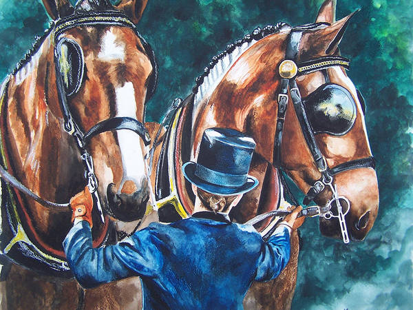 Painting - Two In Hand by Kathy Laughlin