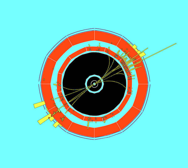 Wall Art - Photograph - Two-jet Event In Aleph Detector by Cern/science Photo Library