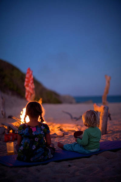 Wall Art - Photograph - Two Kids Having Dinner Next by Woods Wheatcroft