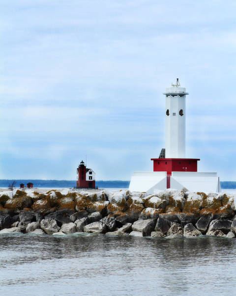 Photograph - Two Lighthouses by Scott Hovind