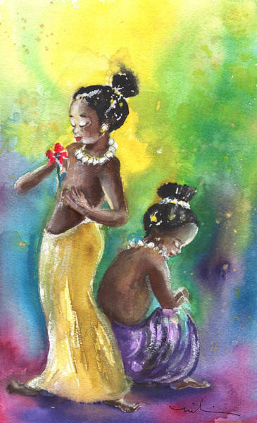 Painting - Two Little Princesses by Miki De Goodaboom