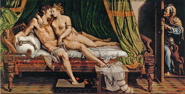 Giulio Painting - Two Lovers by Giulio Romano