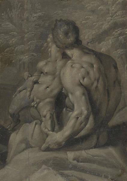 Wall Art - Painting - Two Male Nudes Cornelis Cornelisz Van Haarlem by Litz Collection