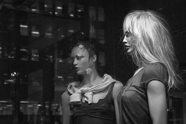 Photograph - Two Mannequins In Shop Window Display by Randall Nyhof