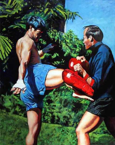 Boxing Painting - Two Masters by Mike Walrath