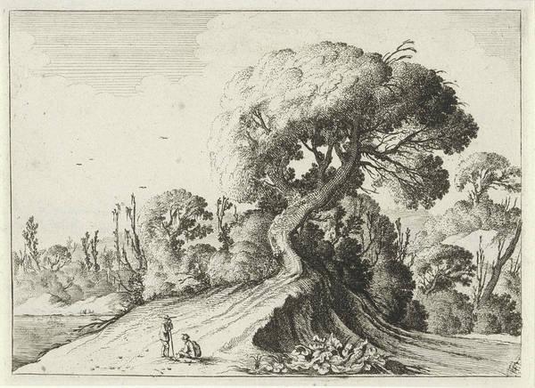Wall Art - Drawing - Two Men For A Large Tree, Gillis Scheyndel by Gillis Scheyndel I