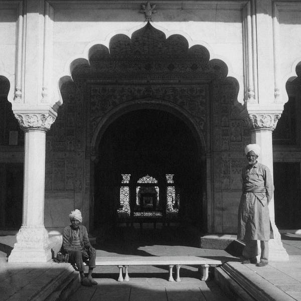 Photograph - Two Men In The Courtyard Of Red Fort In Delhi by Cecil Beaton