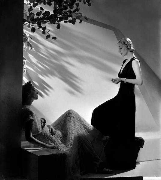 Season Photograph - Two Models In Summer Fashions by Horst P. Horst
