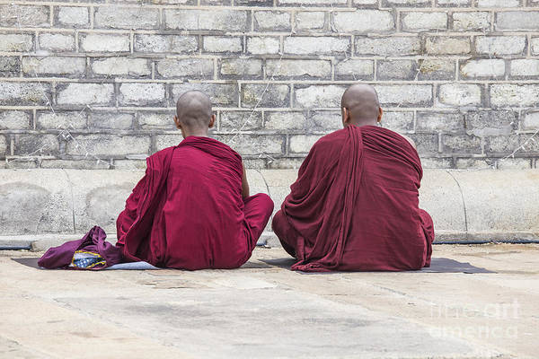 Wall Art - Photograph - Two Monks Praying by Patricia Hofmeester