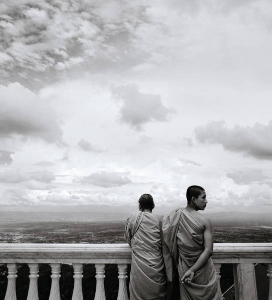Photograph - Two Monks by Shaun Higson