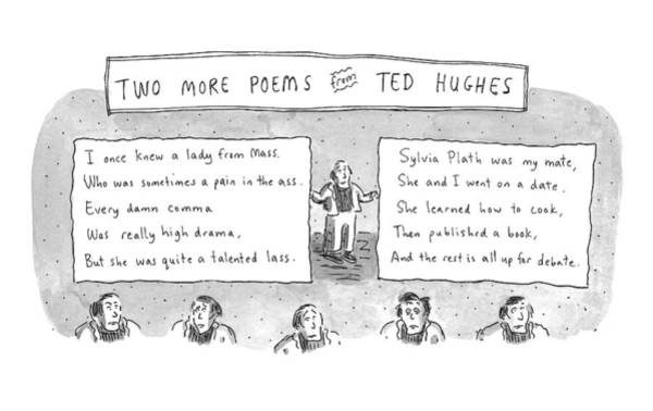 Critics Drawing - Two More Poems From Ted Hughes by Roz Chast