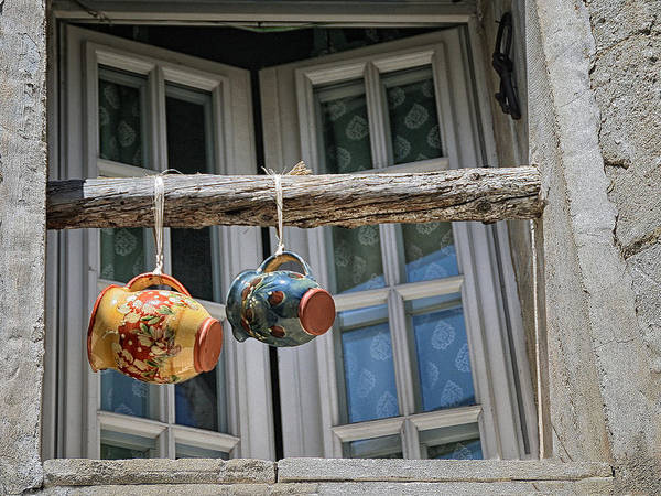 Sandra Anderson Wall Art - Photograph - Two Mugs In A Window by Sandra Anderson