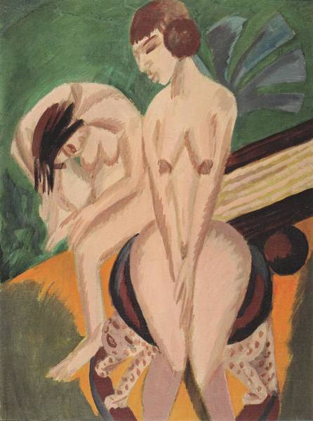 Painting - Two Nudes In The Room Kirchner 1914 by Movie Poster Prints