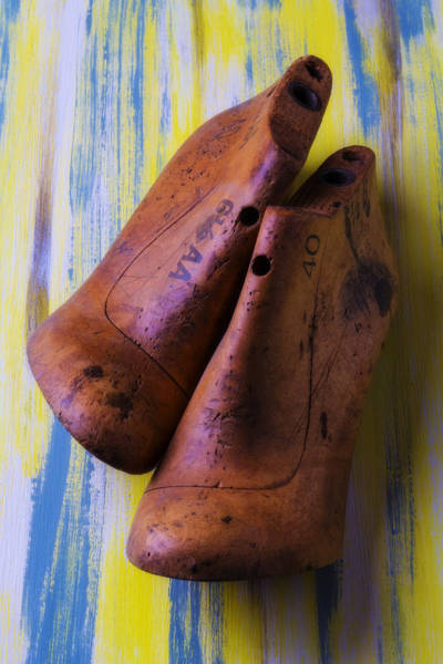 Wooden Shoe Photograph - Two Old Shoe Forms by Garry Gay