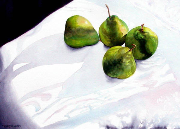 Painting - Two Pair Of Pears by Phyllis London