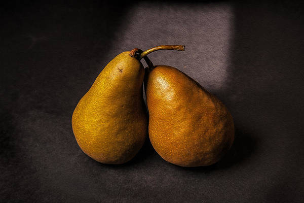 Photograph - Two Pear by Peter Tellone